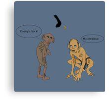 Dobby Vs. Gollum Canvas Print