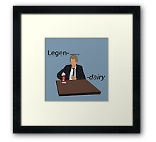 Barney Stinson Legendairy Framed Print