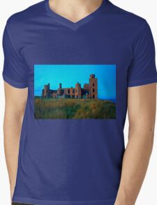 New Slains Castle (Cruden Bay, Aberdeenshire, Scotland) Mens V-Neck T-Shirt