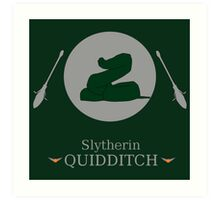 Slytherin Hogwarts House Quidditch  Art Print