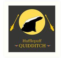 Hufflepuff Hogwarts House Quidditch Art Print