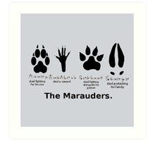Marauders Animagus Footprint  Art Print