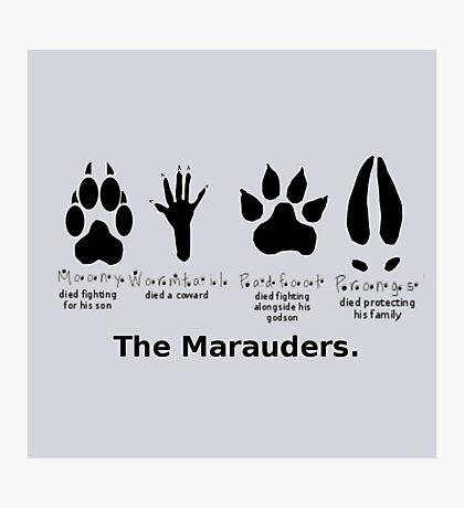 Marauders Animagus Footprint  Photographic Print