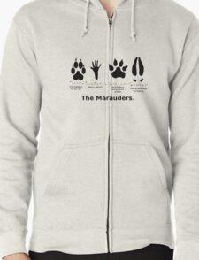 Marauders Animagus Footprint  Zipped Hoodie