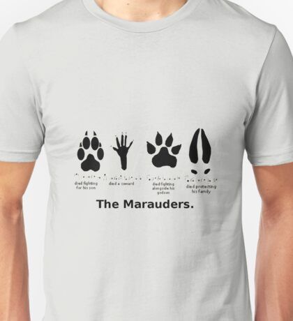 Marauders Animagus Footprint  Unisex T-Shirt
