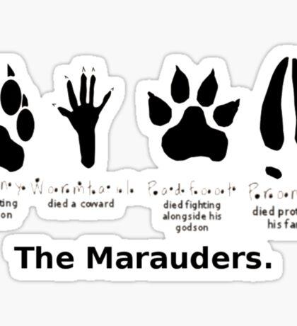 Marauders Animagus Footprint  Sticker