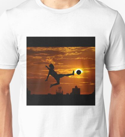 sports statue in city Unisex T-Shirt