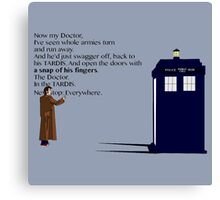 Doctor Who TARDIS River Song Quote Canvas Print
