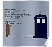 Doctor Who TARDIS River Song Quote Poster