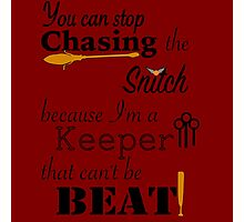 Quidditch Word Play Photographic Print