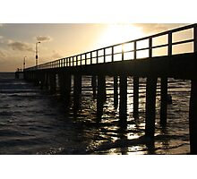 Pier walking Photographic Print