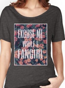 'Scuse Me While I Fangirl Women's Relaxed Fit T-Shirt