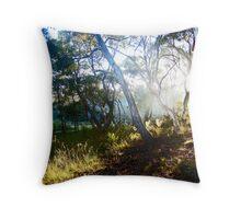 Morning Light Among the Gumtrees Throw Pillow