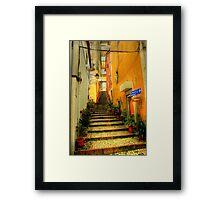 Sintra alley Framed Print