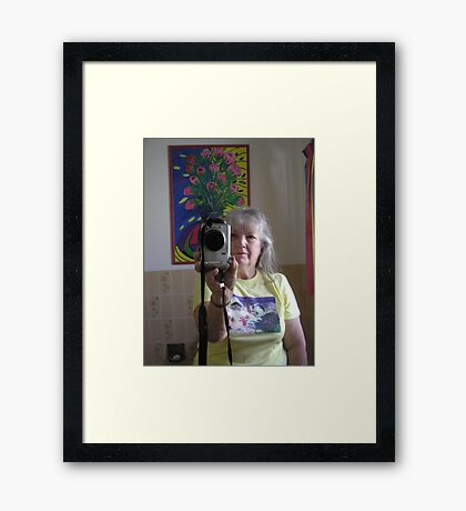 Gini.ginnymac ,does the self portrait reflection . Framed Print