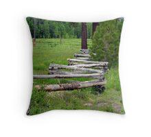 """""""Split Rail Fence"""" Throw Pillow"""