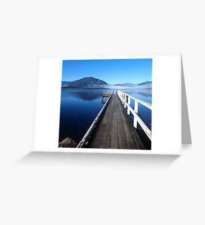 Lake Brunner jetty Greeting Card