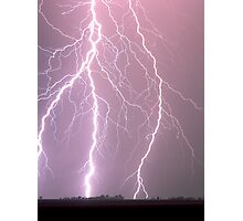 Lightning - Clifton, South East Queensland 18-11-09 Photographic Print