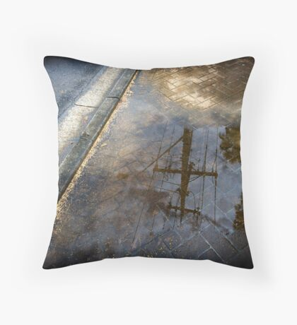 Power Puddle Throw Pillow