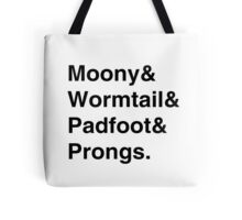 Moony & Wormtail & Padfoot & Prongs. Tote Bag