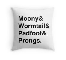Moony & Wormtail & Padfoot & Prongs. Throw Pillow