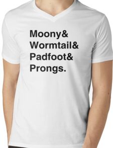 Moony & Wormtail & Padfoot & Prongs. Mens V-Neck T-Shirt