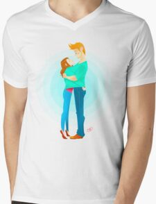 Community: Jeff & Annie Hugging  Mens V-Neck T-Shirt