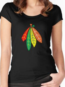 Chicago Blackhawks Women's Fitted Scoop T-Shirt