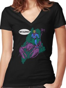 Myaine! Women's Fitted V-Neck T-Shirt