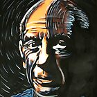 Pablo Picasso Watercolor by johnnysandler