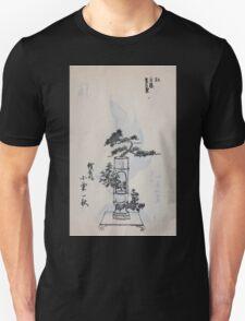 Yenshu ryu ikebana hiak bin no zu shiki konzatsu Flower arrangement in the Enshu style V1 1897 0003 T-Shirt