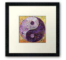 Purple Yin Yang Framed Print