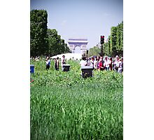 Green Champs Elysees Photographic Print