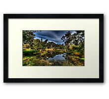 And His Ghost May Be Heard - Billabong , Wonga Wetlands - The HDR Experience Framed Print