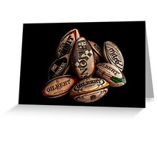 Rugby Balls Greeting Card