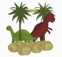 Dino Roar Kids Tshirt by judygal