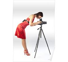 beautiful female photographer Poster