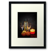 Chic and Wine Framed Print
