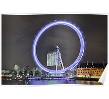 Movement of the London eye during long exposure Poster