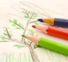 three pencils by sergeylukianov