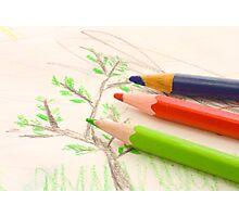 three pencils Photographic Print