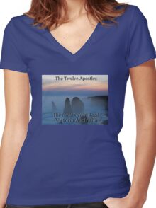 The Twelve Apostles Women's Fitted V-Neck T-Shirt