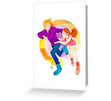 Community: Jeff & Annie Roller-Skating Greeting Card