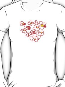 Red and White Flowers T SHIRT T-Shirt