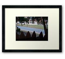 Conspiracy Theory - Stockade Fence Atop A Grassy Knoll Framed Print