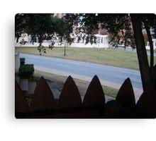 Conspiracy Theory - Stockade Fence Atop A Grassy Knoll Canvas Print