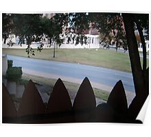Conspiracy Theory - Stockade Fence Atop A Grassy Knoll Poster
