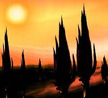 a night walk in a cactus desert..... a dream by banrai