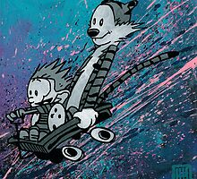 "Ode to Bill Watterson - ""Wagoneering"" by ArtByGolfis"