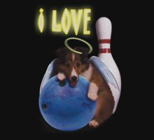 I Love Bowling With Angel Shelties by jkartlife
